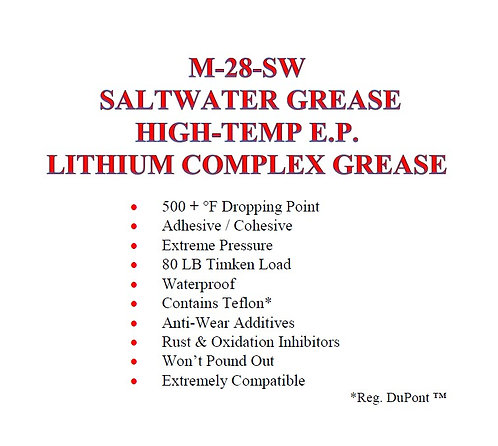 M-28-SW High-Temp E.P. Lithium Complex Salt Water Grease
