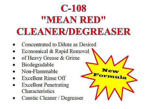 C-108 Mean Red Cleaner/Degreaser
