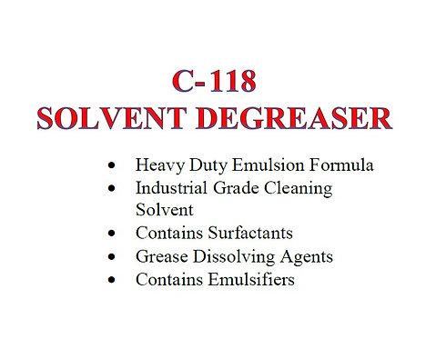 C-118 Solvent Degreaser