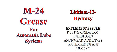 M-24 Grease for Automatic Lube Systems