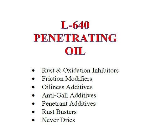 L-640 Penetrating Oil