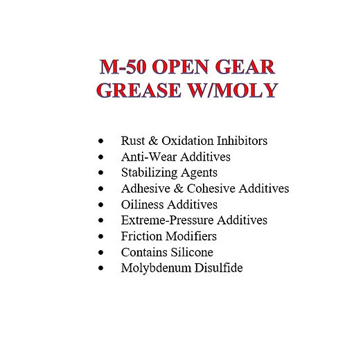 M-50 Open Gear Grease with Molly