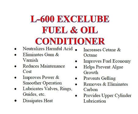 L-600 Excelube Fuel & Oil Conditioner