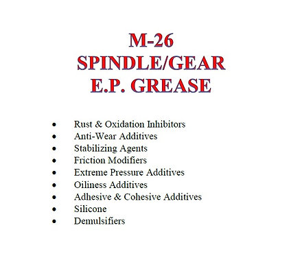 M-26 Spindle/Gear E.P. Grease