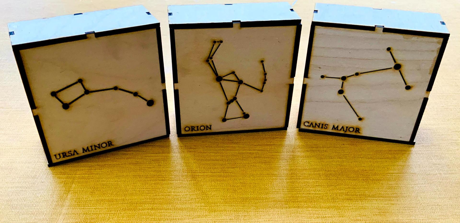 Mini Star boxes x 3