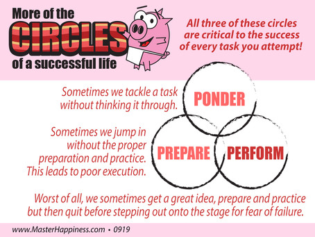 Ponder, Prepare, and Perform