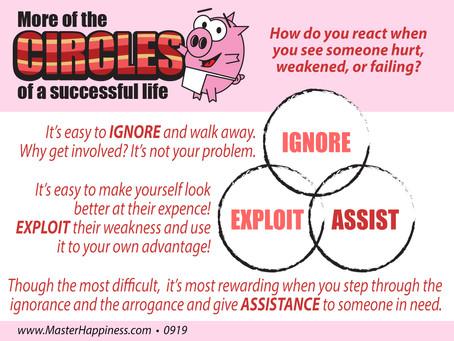 Ignore, Exploit, Assist