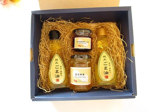 【無添加】純正ごま油・いすみ産百花蜂蜜・いすみ産季節のジャムセット(送料込み)