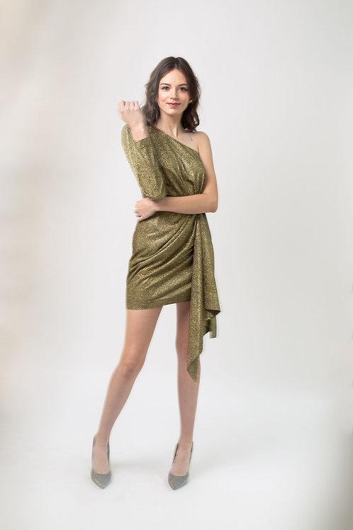 Платье на одно плечо «New Year 2020»