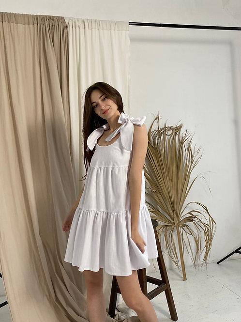 Платье с бантами мини