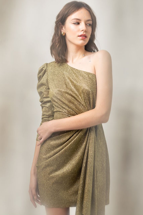 "Платье на одно плече ""New Year 2020"""
