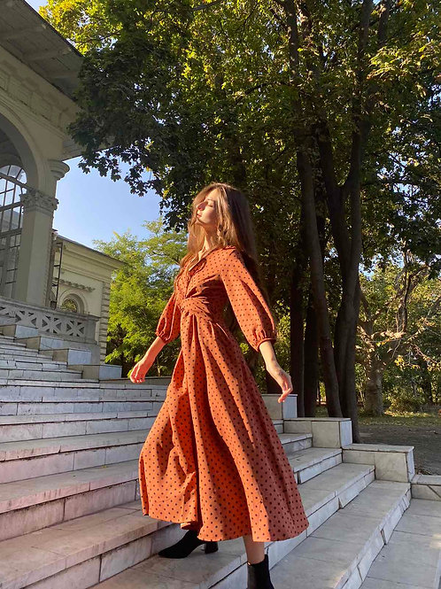 "Платье ""Polka Dott"" миди"