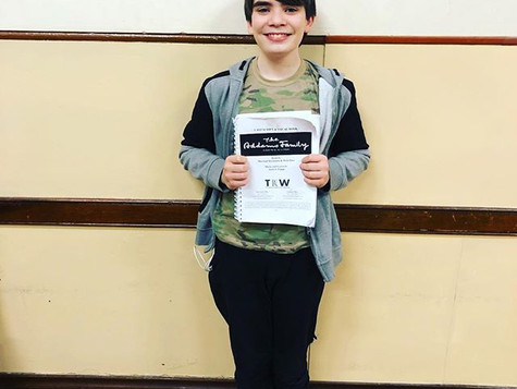 Audition Success for Addams Family