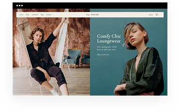Wix eCommerce template for an online fashion boutique