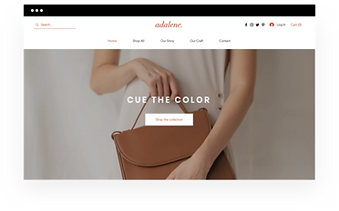 Wix eCommerce template for an online accessories store