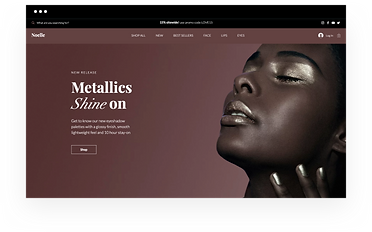 Wix eCommerce template for an online beauty store