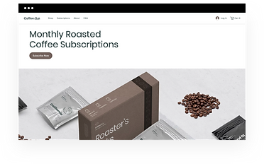 Wix eCommerce template for an online coffee subscription store