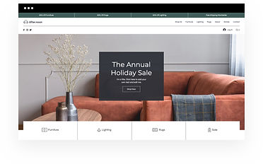 Wix eCommerce template for an online home decor store