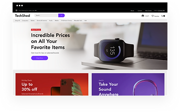 Wix eCommerce template for an online electronics store