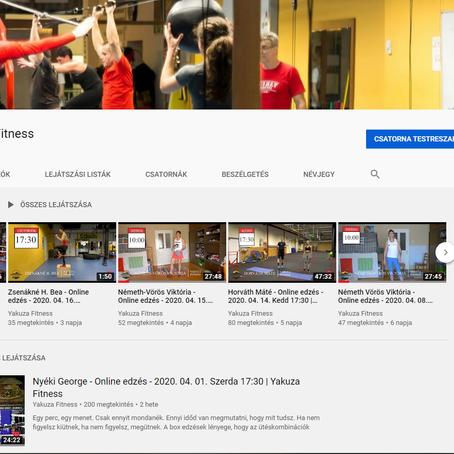 Online edzések a Yakuza Fitnessben