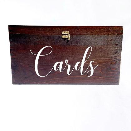 *Large Dark Wood Card Box *