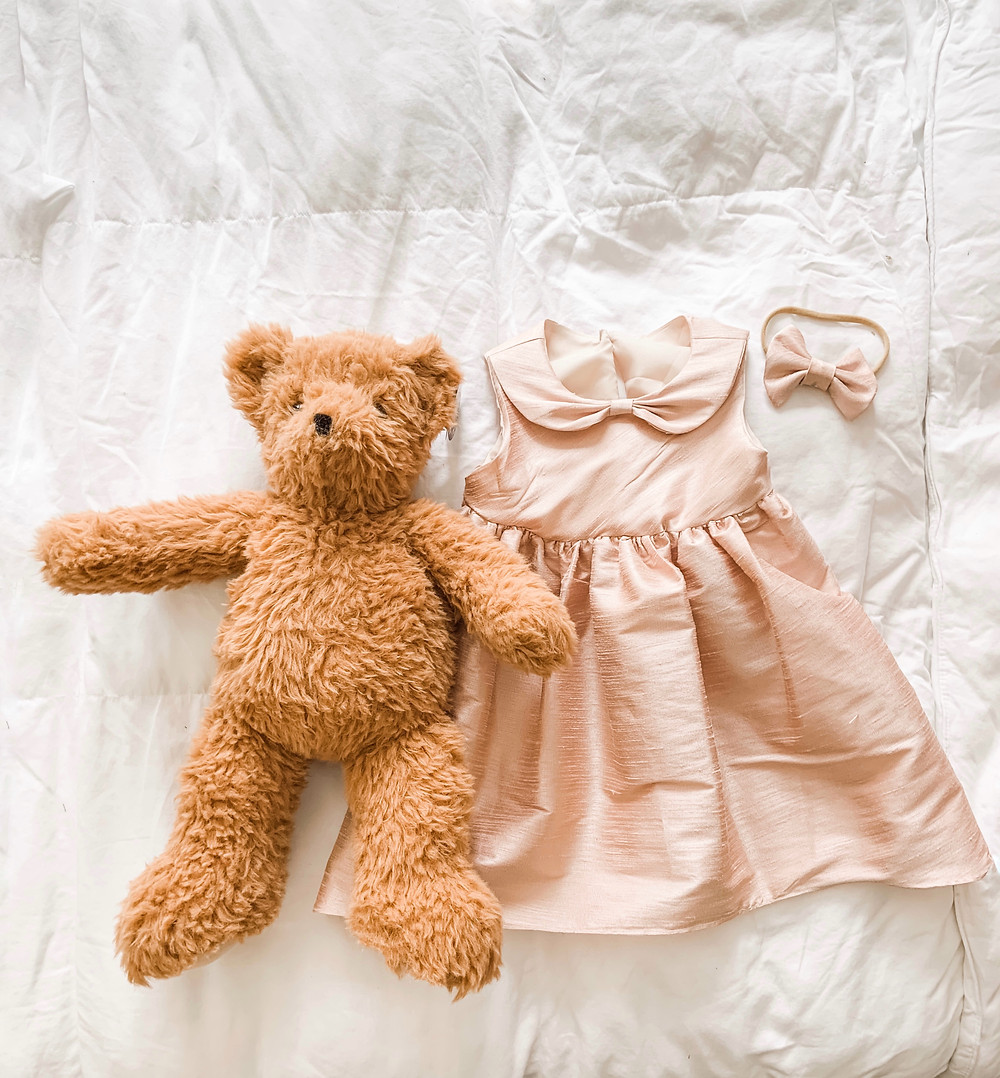 Bear and Bridesmaids Dress with Bow