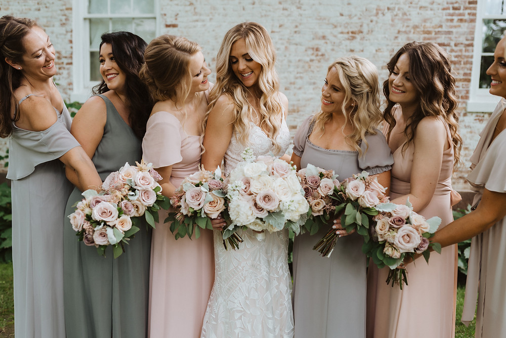 Wedding Bridesmaids Dresses, Evergreen Photography