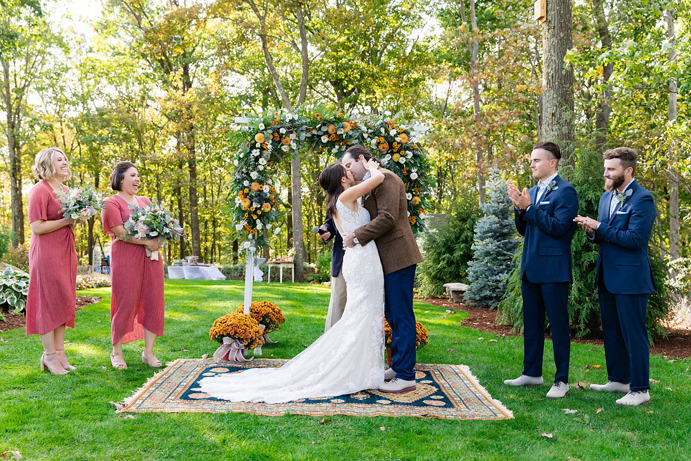 Vintage Rug wedding ceremony
