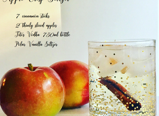 Apple Crisp Vodka Seltzer