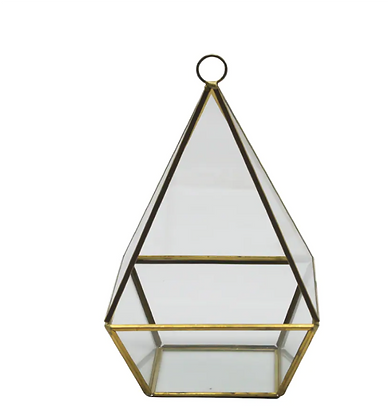 Gold Triangle Glass Terrarium Assortment