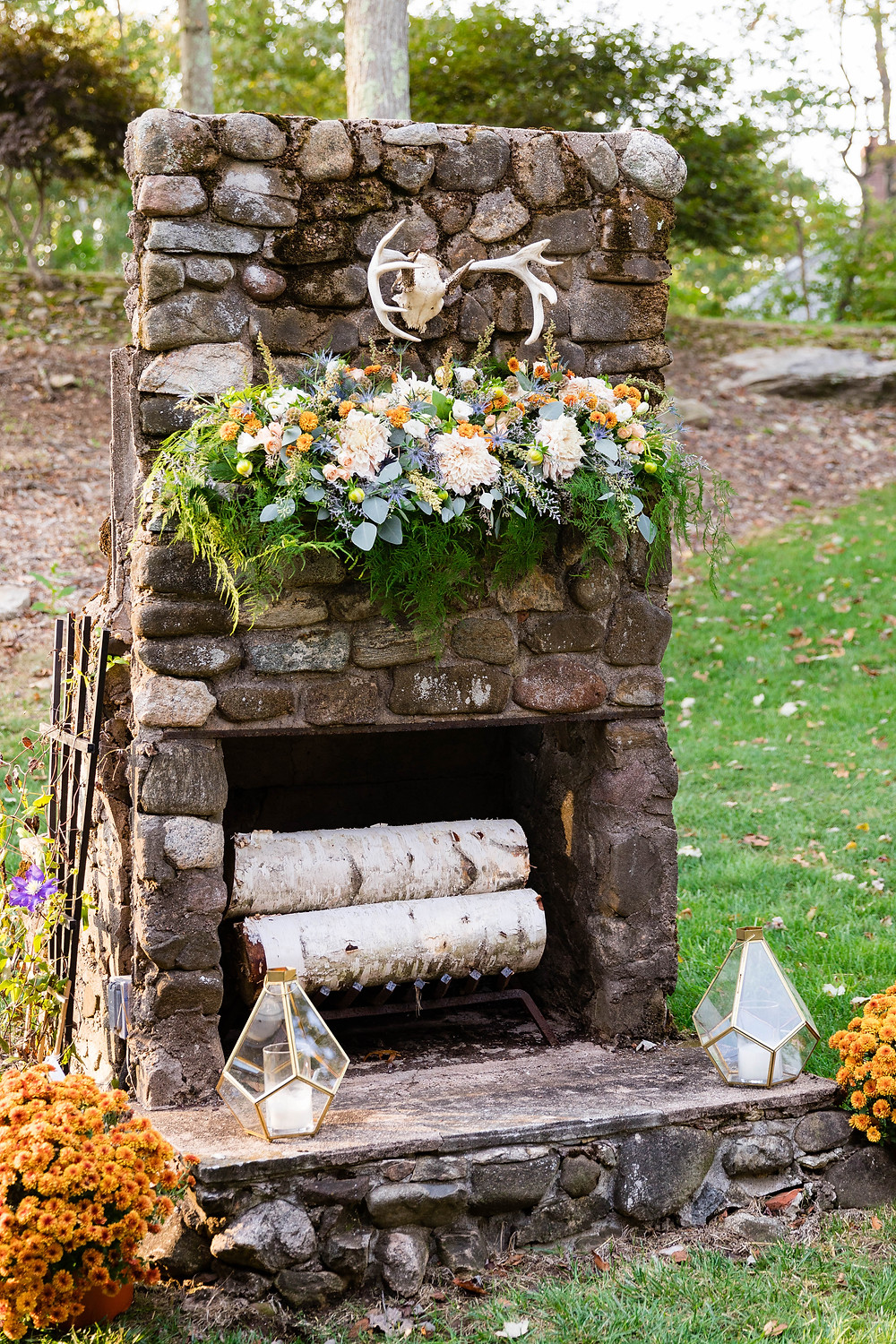 Outdoor Fireplace Wedding