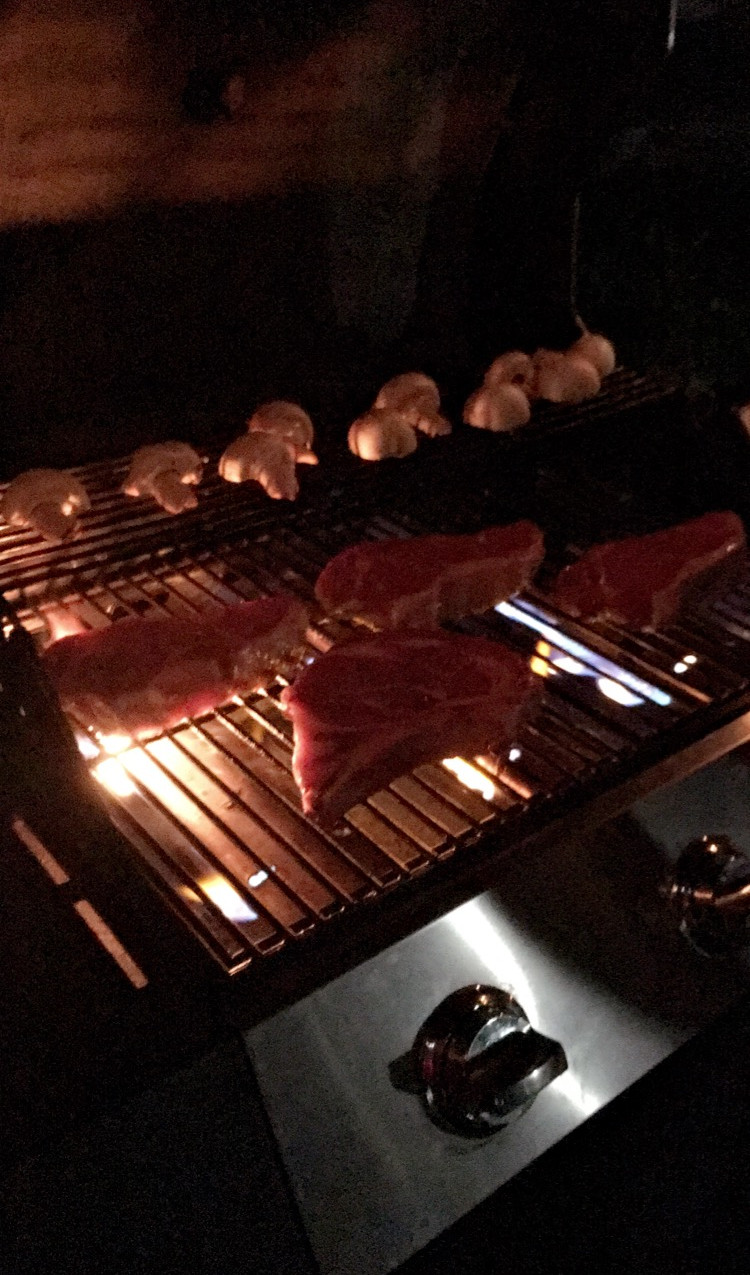 grilling some steaks