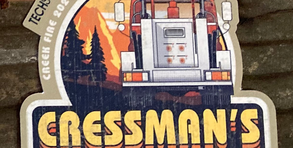 Cressman's Fire Truck Sticker