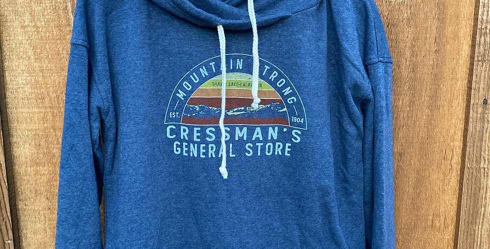 Cressman's Mountain Strong Woman's Hoodie Blue