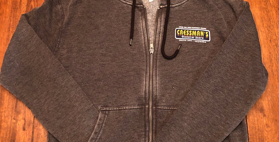 Cressman's Fire Truck Women's Sweat Shirt Zip Up Heather Gray