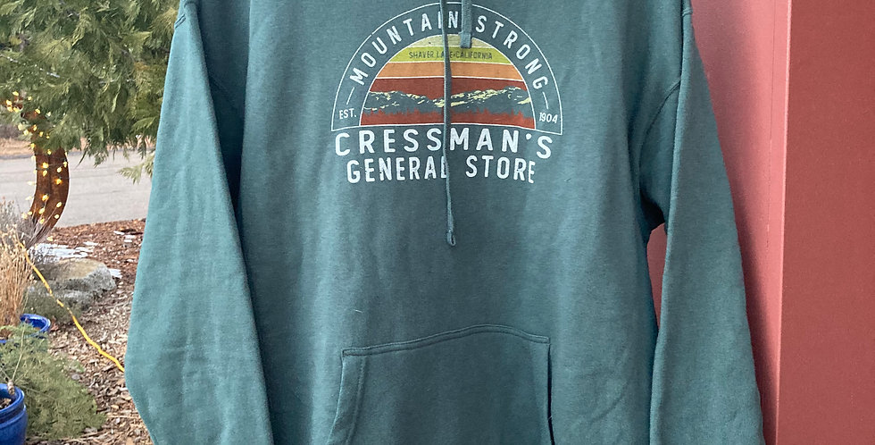 Cressman's Mountain Strong Hoodie Green