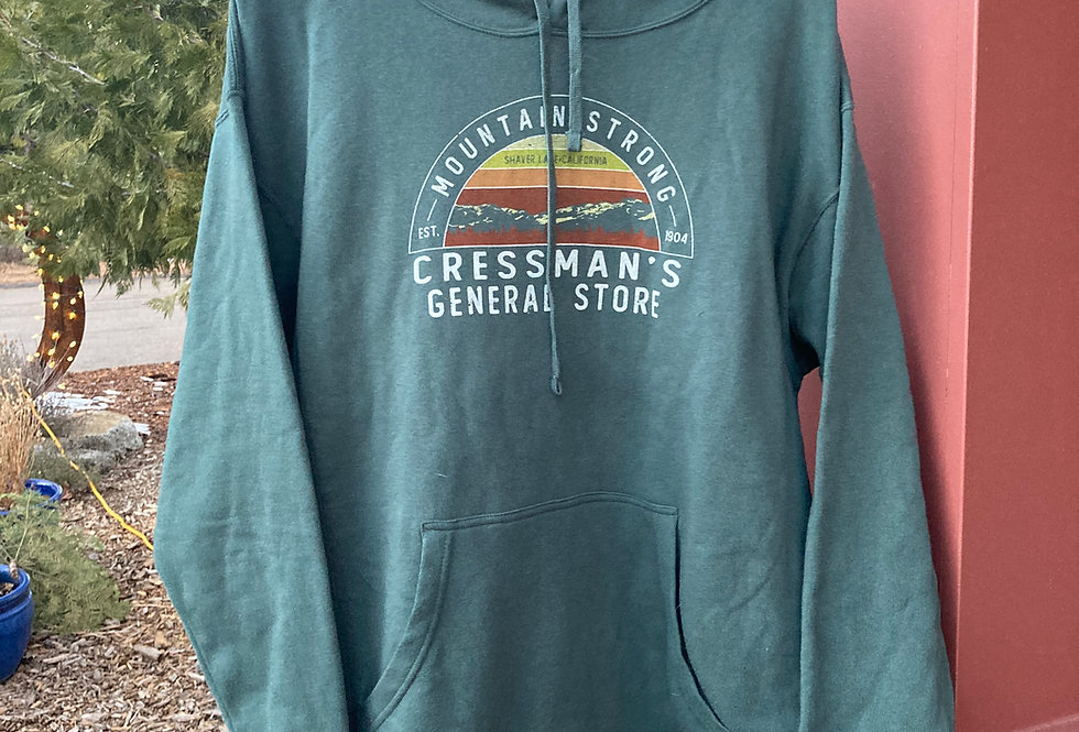 Cressman's Mountain Strong Hoodie Hunter Green