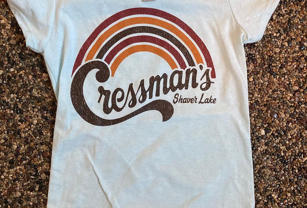 Cressman's Rainbow Tee Girls Short Sleeve Aqua