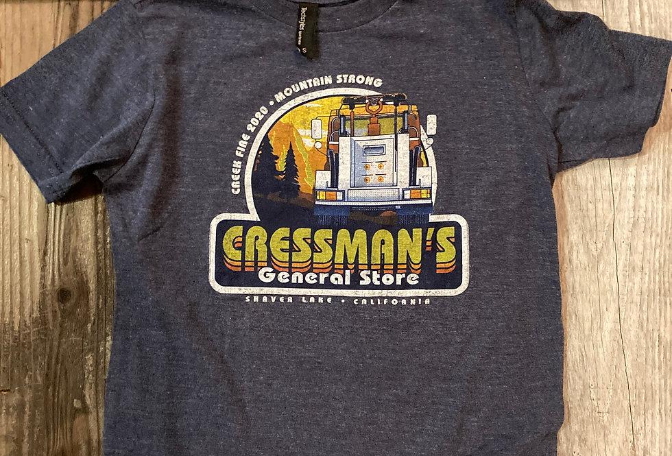 Cressman's Kids Fire Truck T-Shirt Denim Blue