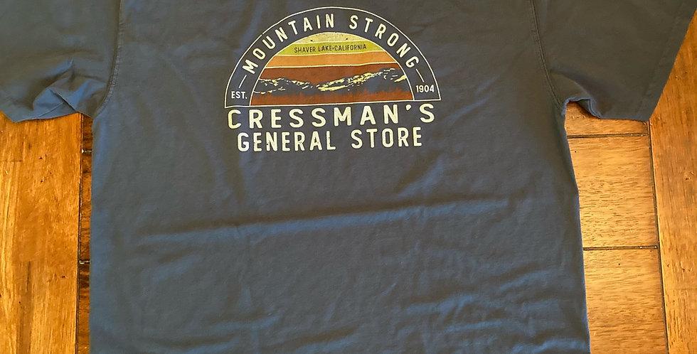 Cressman's Mountains T-Shirt Navy Blue