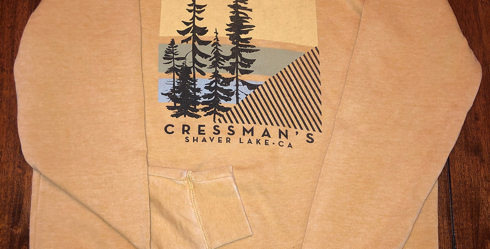 Cressman's Trees Women's Crew Sweatshirt Yellow