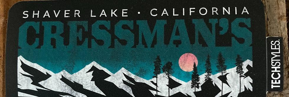 Cressman's Teal Mountains Sticker