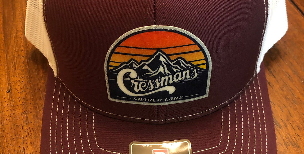 Cressman's Sunset Trucker Hat Maroon / Gold