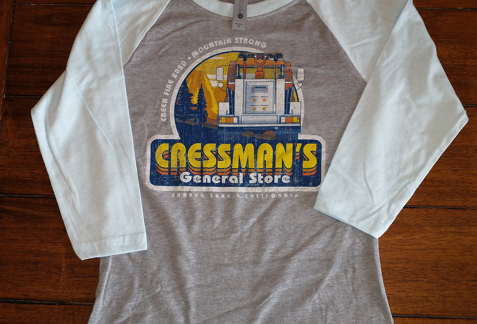 Cressman's Fire Truck Girls 3/4 Sleeve