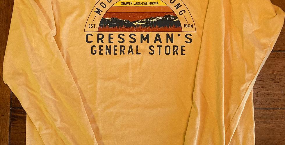 Cressman's Mountain Strong Long Sleeve Yellow