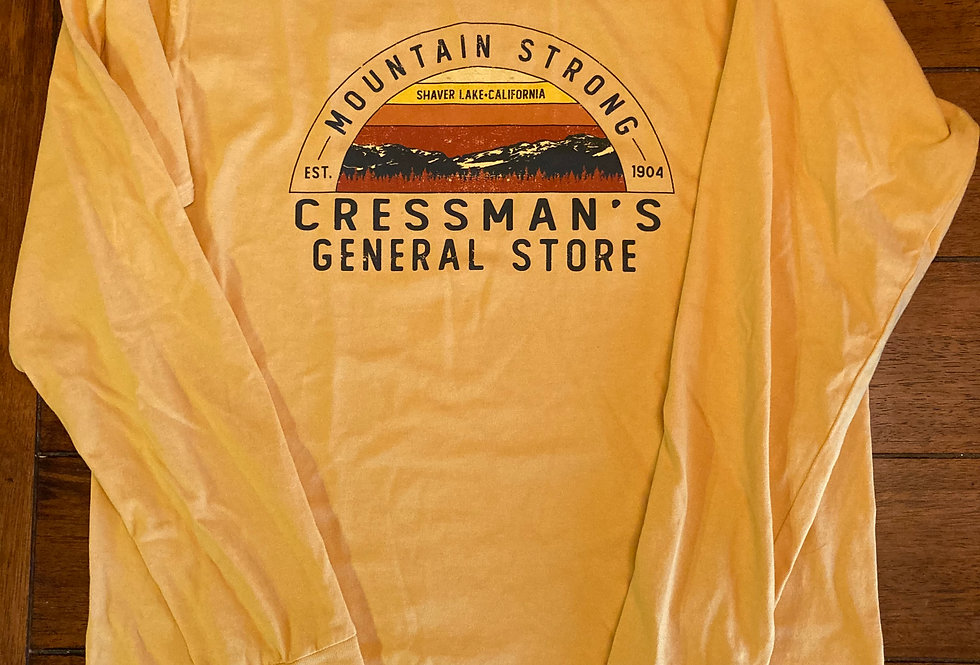 Cressman's Mountain Strong Long Sleeve Yellow