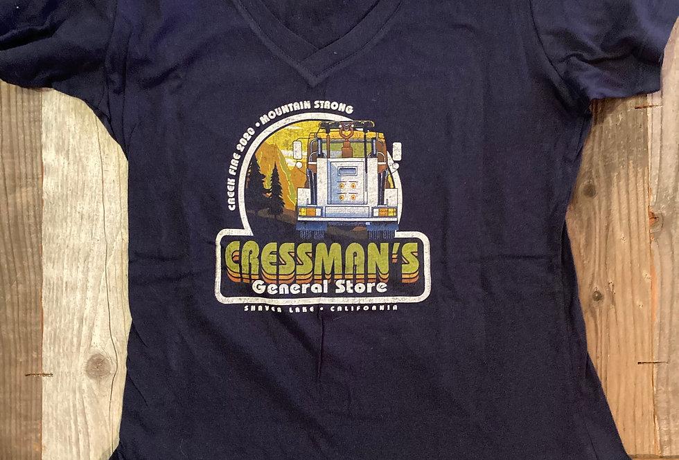Cressman's Fire Truck Woman's V Neck Tee