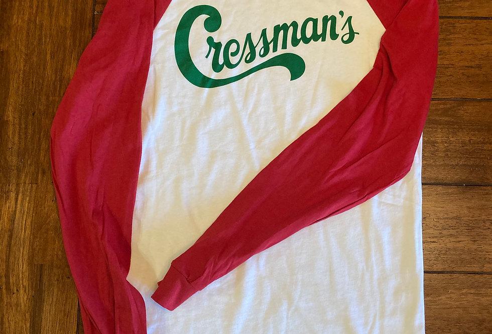 Cressman's Red / Green Logo Long Sleeve T-Shirt