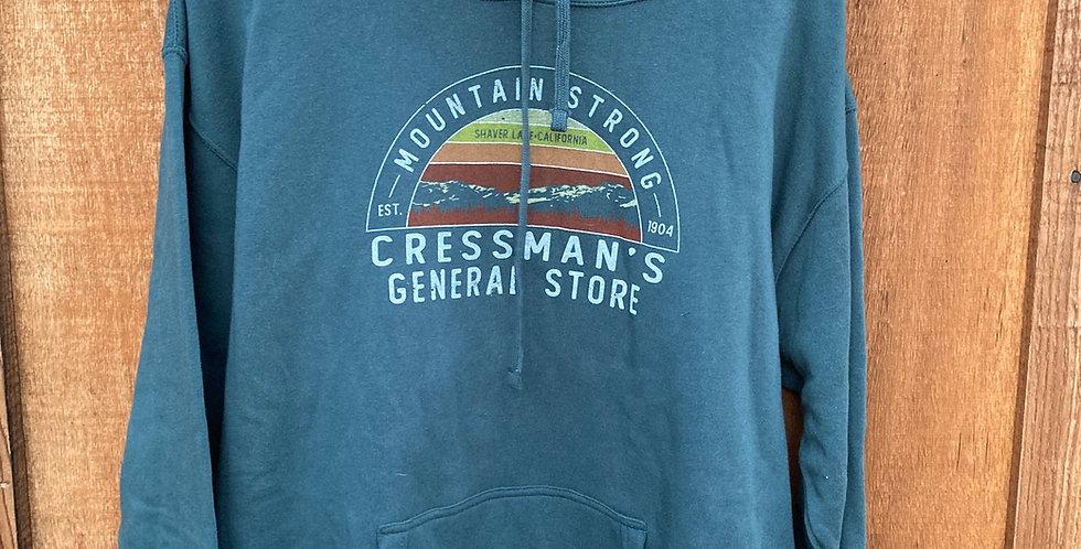 Cressman's Mountain Strong Hoodie Hunter Green