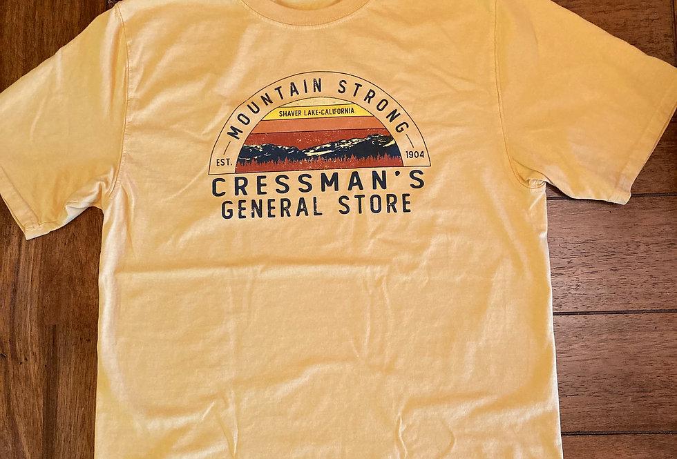 Cressman's Mountain Strong T-Shirt Yellow